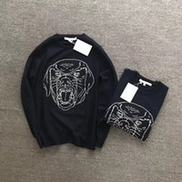 Wholesale Cashmere Dog Sweaters - 2017 New Autumn famous Brand Men Casual Sweater O-Neck Slim Fit Knitting DOG head Sweaters And Pullovers Men Pullover Winter Male