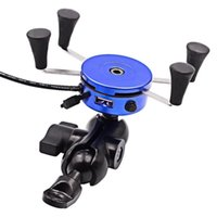 mobile motorräder großhandel-Wholesale-Top-Qualität Motorrad Handyhalter Auto Handy Rack / Navigation Unterstützung USB Ladegürtel Schalter, Auto Styling
