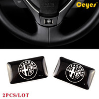 Wholesale Alfa Romeo 147 - Car Plastic Drop Sticker for Alfa romeo 159 156 147 mito gt Car Decor Stickers Personalized Glue Stickers Car Accessories Styling 2PCS LOT