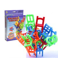 """Wholesale Chair Card - """"Balance Chairs"""" Board Game Children Educational Toy Balance Toy Puzzle Board Game Environmental Protection ABS Plastic"""