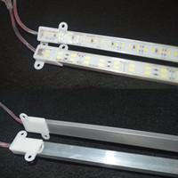 barra rígida luz blanco puro al por mayor-Impermeable 5630 SMD 50 cm 100 cm 72 144 LED Barra rígida de barra de gabinete rígida Luz Blanco puro Blanco cálido con tapa DC12V