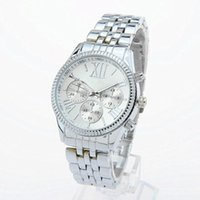 Wholesale Diamond Digital Watches - Luxury Brand K0RS Watches Male Lady Business Diamonds Watches Brand Date Women Bracelet Men Designer Wristwatches 3 Colors.