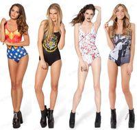 Wholesale One Piece Cape - Sexy Black Milk Bikini Bodysuit Women Triangles SWIMSUIT Wonder Woman Cape Suit Swimwear One Pieces Sexy Tight SKINNY