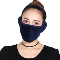 Wholesale Winter Ear Cover Wholesale - Solid Color Winter Warm Windproof Earmuff Unisex Cotton Ear Warmer Cover Ear Muff With Mask