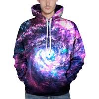 Wholesale Mens Galaxy - Wholesale-Hoody Sweatshirt Mens Hoodies 2016 LUSH GALAXY UNISEX ALL OVER 3d PRINT HOODIE punk Men Sweatshirts Hoodies Outfits AMY442