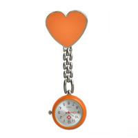 relojes suizos al por mayor-Mixed Colors Nurse Fob Pocket reloj de cuarzo de aleación Sweet Heart Nurse Watch para niño niña reloj de pulsera