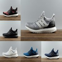 Wholesale Shipping Nyc - 2017 Ultra boost 3.0 Triple Black Mens Running Shoes OreoTriple white Core Black CNY NYC Womens sneakers size US 5-11 free shipping