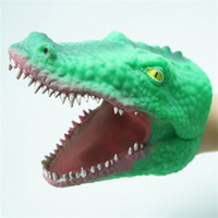 Wholesale Real Doll Hand - High quality modeling realistic real plastic animal hand doll toy crocodile hand dolls interactive toy factory price free shipping
