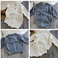 Wholesale New Babys Fashion Knitted Set Sweater Coat Short High Quality Soft Autumn Babys Suits Z423