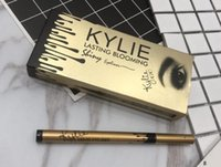 Wholesale Eye Liner Gold - 2017 Kylie Last Blooming Slimming Eyeliner Black Liquid Eyeliner Gold Edition 12pcs Waterproof Eye liner BFFA434