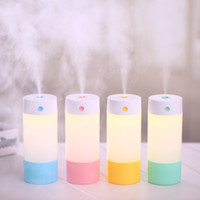 Wholesale Led Filters Light - 250ml Car Home Office air Purifier LED Light Humidifier Ultrasonic Essential Air Atomizer Diffuser Wave Air Filter Mist Maker