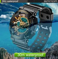 Wholesale Men S Watch Water Resistant - 2016 New Hot Sale Watch Men Sport Watch Waterproof Russian Military G Style S Shock Watches Men's Luxury Brand Relogio Masculino