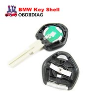 Wholesale Bmw E34 Lights - Replacement Shell Remote Key Case Fob Blank Key Uncut HU58 Blade With Light For BMW 3, 5, 7 Series E36 , E34, E32