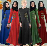 Wholesale muslim dress women dresses islamic clothes islamic clothing long dress women cartan D127 free dhl