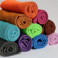 Wholesale Baby Exercise - 90*35cm Ice Cold Towel Double Layer Summer Sports Exercise Cooling Towels Hypothermia Cool Quick Dry Washcloth Soft Breathable Cooling Towel