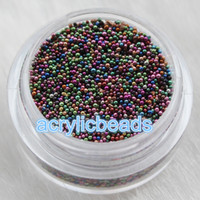 Hearts, Love black caviar nails - 10g Colors Metallic Sprinkles Nail Art Glass Micro Beads Ball No hole Glass Caviar Marble MicroBead
