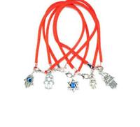 bracelets rouges à la main achat en gros de-100 Pcs Vintage Argent Kabbale Hamsa Charmes À La Main Chaîne Rouge Manchette Bonne Chance Bracelets Bangles Bijoux Gif Accessoires N1922 de la Saint-Valentin