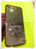 iphone mais 24k venda por atacado-Luxo rosa brilhante habitação ouro para iphone 7 habitação de cristal 24 K Banhado A Ouro De Cristal De Volta Habitação Para Iphone 7 Plus diamante Bateria