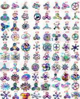 boks için el metali toptan satış-Gökkuşağı metal Fidget Spinners El Spinners Parmak EDC Oyuncaklar Döndürme Tri-Spinner Spiral Gyro EDC Fidget Kutusu Ile modle seçebilirsiniz