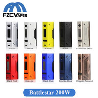 Wholesale Design Batteries - Authentic Smoant Battlestar 200W Box Mod 200Watt Temperature Control Mod Dual 18650 Battery 510 Thread Connector Compact Design