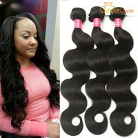 Vente en gros de cheveux ondulés du corps péruvien 7a Peruvian Virgin Hair Remy Hair Extensions Non transformé Virgin Virtuel Body Wave Naturel Couleur