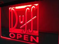 Wholesale Open Office Lighting - LA055r- Duff Beer OPEN Bar LED Neon Light Sign