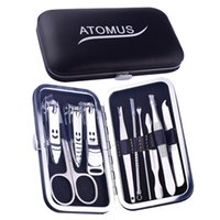 Wholesale Nail Tools Suit - Nail Tool Set Beauty Group Box Stainless Steel Nail Scissors Suit Multi - Functional Home Spare Tools
