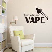 Wholesale 69x44cm English Motto Keep Calm and Vape Vinyl Wall Stickers Removable Art Mural for Home Decoration Kids Bedroom