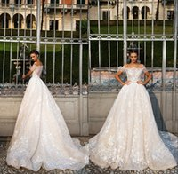 Wholesale white short shoulder detail online - 2018 African Plus Size Wedding Dresses Off The Shoulder Short Sleeves Ball Gown Lace Appliques Custom Made Wedding Gowns Bridal Dress