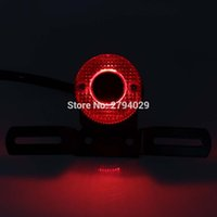 Wholesale Custom Licenses - Personalise Universal LED Red Lens Rear Brake Tail Light with License Plate Bracket for Most of Motorcycle Custom Free Shipping
