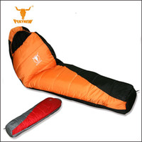 Wholesale Goose Camping - 210T polyester plaid sleeping bag winter Sleeping outdoor Camping Sport Adult Envelope Type Cotton Splicing Single Sleeping Bags