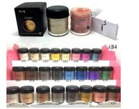 Wholesale 24 color eyeshadow resale online - NEW g pigment Eyeshadow Mineralize Eye shadow With English Colors Name colors random send color B727