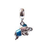 Wholesale Bracelet Elephant - 2017 New Special Offer Authentic 925 Sterling The Flying Elephant & Enamel Dangle Charms Fit pandora European Bracelet Necklace Jewelry