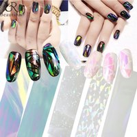 Wholesale Diy Bling Stickers - 100cmx4cm Fashion Shiny Laser Nail Art Bling Bling Broken Glass Foils Finger Stencil Decal DIY Manicure Beauty Stickers ND232