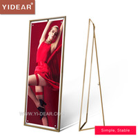 Wholesale YIDEAR x160cm Anti rust Outdoor Poster Frame Display Stand Holder Advertising Shelf Rack only frame without poster