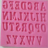 letras do molde do chocolate venda por atacado-Bolo de Silicone 3D Molde Letras de Decoração Do Bolo Mould / Fondant De Chocolate Sabão moldes Do Bolo Do Alfabeto Mould