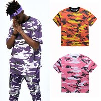 Wholesale Pink Camo Long Sleeve Shirt - SUPER FASHION CHIC FNTY COLORFUL CAMO JOGGER PANTS N T-SHIRT HIPHOP DANCER OUTFIT MEN or WOMEN US SIZE LOOSE OVERSIZE FITTING