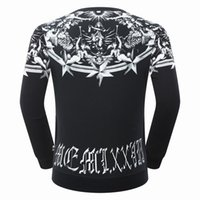 Wholesale Official Brand - NEW Official 1: 1 high quality skull men's Single sweater size M-3XL luxury brand men clothing fashion casual business men's Sweater #7045