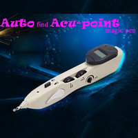 Wholesale Electronic Penis - Leawell 508B Acupuncture Electric Massager Pen Inteligent Acupoint Massage Penis Magic Electronic Massage Pen Laser Acupressure As On TV