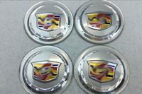 Wholesale Auto Cadillac - Newest 56mm 65mm Car Wheel Center Hub Caps Emblem Auto badge Decals For SLS XTS ATS CTS Accessories
