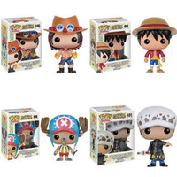 Wholesale Mini Figure One Piece - Funko POP One Piece Luffy Chopper Ace action Figures Lovely Mini Collections Model Toys Gifts For Kids With Nice Package #F