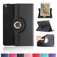 Wholesale Folding Business Cards - 360 Degree Rotating Stand TPU Leather Case Protective Flip Folio Detachable Card Slot Soft Rubber Cover For Apple iPad 2 3 4 mini 1 Air Pro