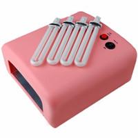 Wholesale Lamp For Gel Nails Kit - art set Pro UV Gel Polish Kit 36W Dryer Lamp for Glitter Rhinestone False Tips Acrylic Nail Art