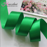 Wholesale Hairbows Supplies - Free shipping 1''(26mm) Polyester Satin Ribbon 100yards lot Solid 196 Colors Ribbon DIY hairbows Kids gift package