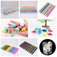 Wholesale Colorful Watercolor - 3*2cm 60pcs lot Novel Water Hatching Inflation Colorful Dinosaur Eggs Watercolor Grow Egg Educational Toys Classic Toys CCA7637 48set