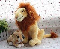 Wholesale Lion King Stuffed - Wholesale- Free shipping 2pcs lot Original The Lion King lion samba stuffed soft doll toys,35cm and 20cm