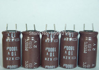 Wholesale Electrolytic Capacitor Motherboard - Wholesale- 10pcs 1800uF 10V NIPPON NCC KZH Series 10x20mm Ultra Low impedance 10V1800uF Motherboard Electrolytic Capacitor