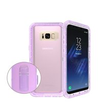 Wholesale Colorful Waterproof Iphone Covers - Universal Waterproof For Samsung S8 plus Colorful Transparent Clear Life Waterproof Cover For Iphone 7 6 6s Plus With OPPBAG