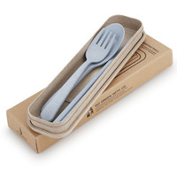 Wholesale Korean Chopstick Spoon Set - 3pcs set Portable Chopsticks Tableware Spoon Folk Three-Piece Suit Cutlery Outdoor Travel Kitchen Gadgets