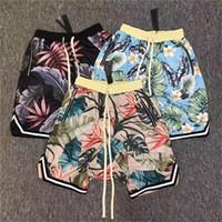 mesh shorts strand groihandel-Fear Of God Shorts Herren Damen 2017 New Floral Die 1987er Kollektion FOG fearofgod Beach Mesh Shorts Sommer Style Fear Of God Shorts
